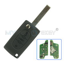 Remtekey CE0523 Flip remote car key 3 button for Peugeot key for Citroen key ASK 433 mhz ID46 - PCF7941 HU83(China)