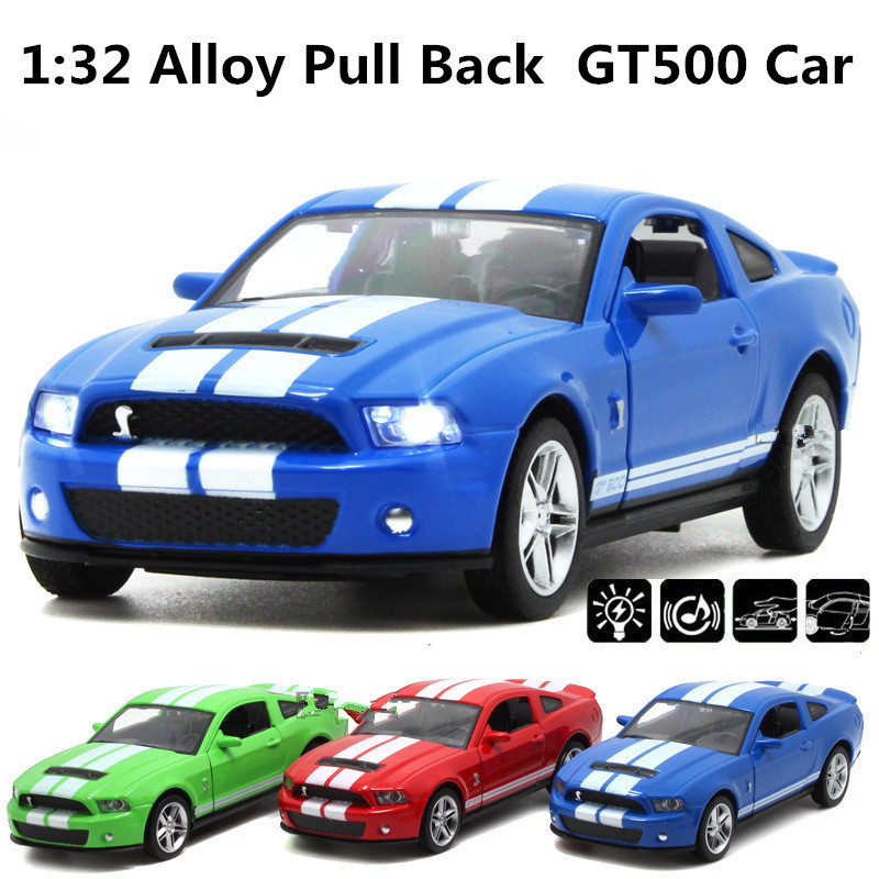 Ford Mustang GT500 Car,1:32 scale Alloy Pull Back cars,Diecast model World cars gift,,free shipping(China (Mainland))