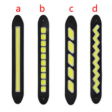 Car Styling 2pcs Daytime Running Light Waterproof COB Day Time Working Lights Flexible LED DRL Driving Lamp For Ford VW DC12V(China)