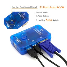 2 Ports USB KVM Switcher Mouse Video Keyboard Console VGA SVGA auto switch splitter Controllor 1920*1440