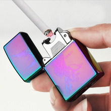 Single Arc Lighters Slim Windproof USB Rechargeable Cigarette Cigar Lighter Electronics Novelty Smoking Lighter 21 colors(China)