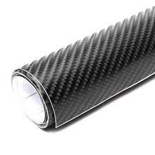 NEW Hot Sale Black 50X152cm 4D Waterproof Glossy Carbon Fiber PVC Film Vinyl Wrap DIY Car Sticker Decal Sheet