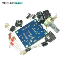 LM386 Mini Amplifier Board DIY Kit 3V-12V Power Amplifier Suit Variable Resistor DIP8 IC LED Audio Capacitor DC005 Byond TDA2030(China)