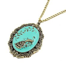 2017 New Fashion Hot-Selling Wholesale Factory Outlets Guaranteed 100% Korean Fashion Peacock Pendant Necklace 66N21