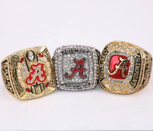 3Pcs/Set! 2017 Hot Crazy NCAA 2015 2016 Alabama Crimson Tide Football National Championship Ring Replica Drop Shipping