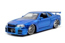 Jada 1:32 FAST AND FURIOUS F8 Brian's Nissan Skyline GTR GT-R R34 Diecast Model Car Toy New In Box Free Shipping