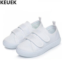 Buy New Children Casual Shoes Student White Sneakers Boys Canvas Shoes Girls Espadrilles Sports Baby Toddler Flats Kids Shoes 019 for $11.17 in AliExpress store