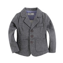 new arrival knitted cotton 100% toddler boy blazer  solid Grey