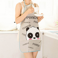 Women Cute Cartoon Waterproof Apron Kitchen Restaurant Cooking Bib Aprons(China)