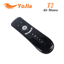 [Genuine] Gyroscope Mini Fly Air Mouse T2 2.4G Wireless Keyboard Android remote control 3D Sense Motion Stick For  Smart TV