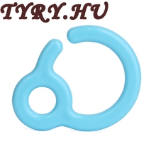 TYRY.HU Baby Pacifier Hook Mini Silicone Hooks Baby Teethers Toys Safe Attach to Car Seat Handles/Stroller Bars/Playpens 50pcs(China)