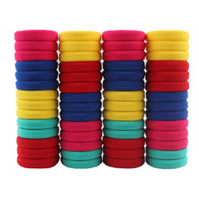 100pcs/lot Mix Colors Elastic Hair Rubber Bands Rope Girl Kids Ponytail Holder Hair Accessories Scrunchy Hair Ties 2017(China)
