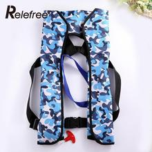Relefree Automatic Inflatable Surfing Life Jacket Adult Swimwear Boating Swimming Water Sports Safety Jacket Water Sport Wear(China)