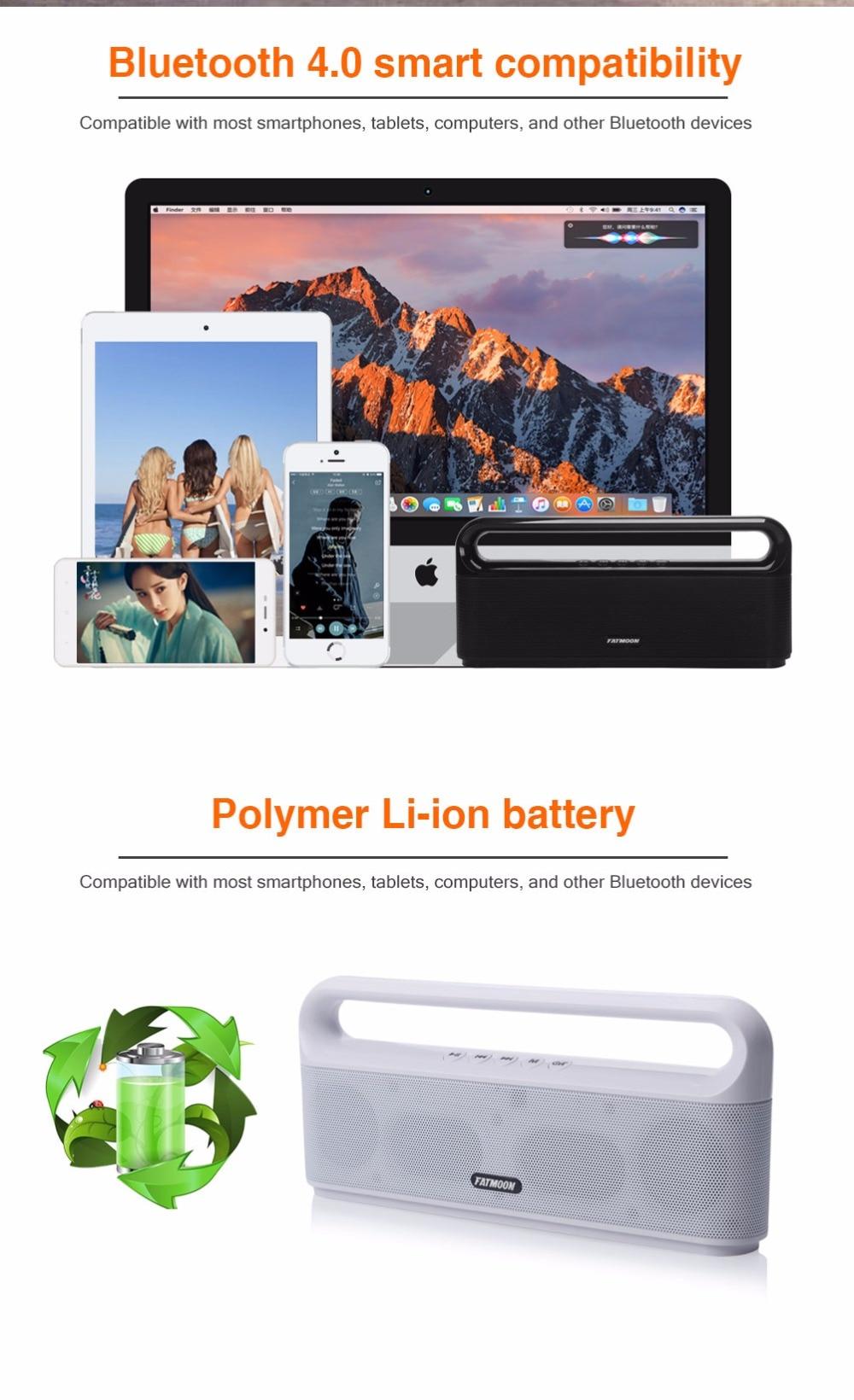 FATMOON Portable Bluetooth Speaker FAT-11 Radio FM Bluetooth Receiver Aux Parlante Altavoz Bluetooth caixa de som soundbar