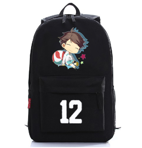 Anime Haikyuu Cosplay Hinata Syouyou Cos Japanese anime cartoon student male and female black digital shoulder bag<br>