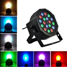 DMX512 Master Slave Flat DJ Equipments Controller 18*3W 12W RGBW RGB Led Stage Light 110V 220V Par Light With for Party Disco