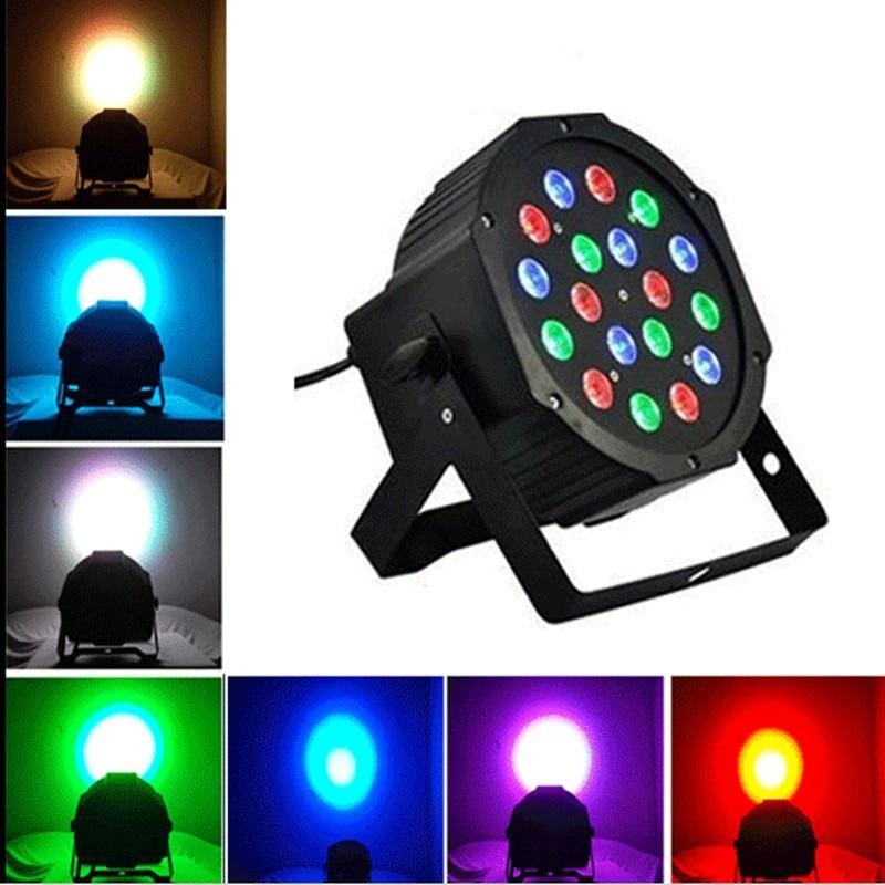 DMX512 Master Slave Flat DJ Equipments Controller 18*3W 12W RGBW RGB Led Stage Light 110V 220V Par Light With for Party Disco<br><br>Aliexpress