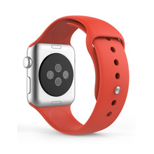 Colorful Rubber strap With Wrist Adapter Sport Silicone Bracelet watchband For Iwatch Series 1 2 Apple Watch band 42mm 38mm