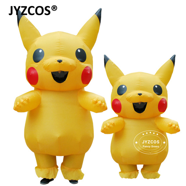 jyzcos inflatable pikachu costumes cosplay carnival pokemon costumes halloween costumes for kids adults men women girls