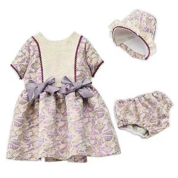 2019 summer new baby girls Spanish dress 3pcs newbaby toddler dress  baby girl clothes party wedding flower girls dress