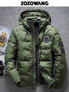 ZOZOWANG Winter Jacket Parka Overcoat High-Quality Thick Snow Wind-Breaker Men's Size-4xl