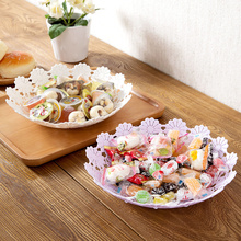 Hollow Flower Petal Plastic Fruit Basket Dinner Plate Food Fruits Dish Service Plastic Plate Kid's Dining Tray(China)