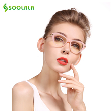 SOOLALA Cateye Reading Glasses Women Men Glasses Frame Reading Glasses +0.5 0.75 1.0 1.25 1.5 1.75 2.0 2.25 2.5 2.75 3.0 3.5 4.0(China)