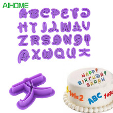 26pcs Mickey Mouse Font Alphabet Cookie Cutter Number Letter Set Cake Tool Fondant Mold