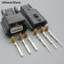 shhworldsea 5/30/100sets kit 3 way 3p 0.6mm female male auto wire connector 7283-8852-30 7282-8852-30(China)