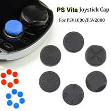 4 Color Protective Silicone 3D Joystick Cap Buttons Pad Kit Grip Cover For Sony For PSV 1000/2000 Console PSVITA(6in1=1set)