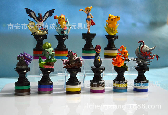 The second generation an animal  pocket doll ornaments LPS toys action figures Chess base can rotated a set/10pcs PVC<br><br>Aliexpress