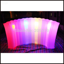 Free shipment 3.5mL*2mH Cheap LED inflatable air wall inflatable photo booth wall for sale