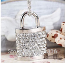 real capacity hot selling  Jewelry & Crystal Lock USB Flash Drive Pen Memory 2GB 4GB 8GB 16GB 32GB USB flash drive S55 DD
