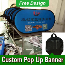Free Design Free Shipping Horizontal A Frame Banner Pop Up Signs Outdoor Pop Up A-Frame Sideline Banner(China)