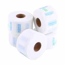 5Pcs/Set White Disposable Neck Covering Paper Rolls Hair Cutting Accessory Hairdressing Tools