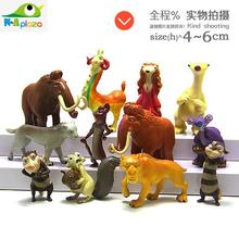 Cartoon Ice Age Manny Sid Diego Scrat  Mini PVC Action Figure Collection Model Kids Toy Doll 12pcs/set
