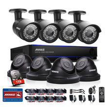 ANNKE 8CH CCTV System HD 2MP 1080P DVR 8PCS 1500TVL IR CCTV Outdoor Home Security Camera Surveillance System Kit 1TB HDD(China)