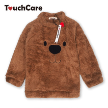 Newborn Winter Warm Thick Fleece Baby Sweaters Infant Cute Cartoon Animal Bear Kids Pullover Long Sleeve T-shirts Toddler Blouse(China)