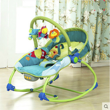Free Shipping Mental Baby Rocking Chair Infant Bouncers Baby Kids Recliner Vibration Swing Cradle With Music