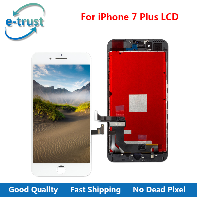 e-trust 50Pcs/Lot AAA+ Quality LCD Screen Display For iPhone 7 Plus Touch Screen Digitizer Assembly Replacement + Free Shipping(China (Mainland))
