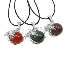 Hot Sale Wholesale Claw Natural Real AAgate Necklace Crystal Stone Quartz Necklaces Pendant Women Men Jewelry Created
