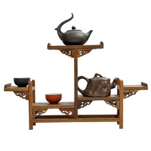 Ming and Qing furniture mahogany wings antique wooden curio shelf aircraft Shelf Teapot frame ornaments factory direct