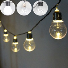 outdoor 5cm Globe Connectable Festoon LED Party Ball fairy string light led Christmas Lights fairy light wedding garden garland
