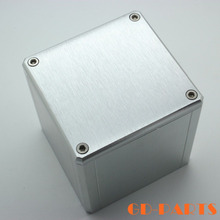 1PC Silver 84x80x86mm Full Aluminum Vintage Transformer Triode Protect Cover Enclosure Case For DIY Tube Amplifier