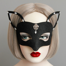 Halloween Mask Woman Sexy Fox Mask Vintage Black Children Face Mask Animal fox ears Fashion Cosplay Party Accessories(China)