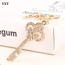 Vintage Key Style Lovely Charm Pendent New Crystal Purse Bag Keyring Gift Key Chain Women In Jewelry High Quality