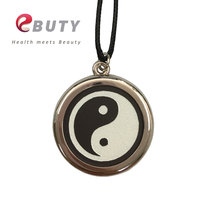 EBUTY Taiji Pendant Lava Scalar Energy Yingyang Charms With Stainless Steel Necklace Best Gift Pendants