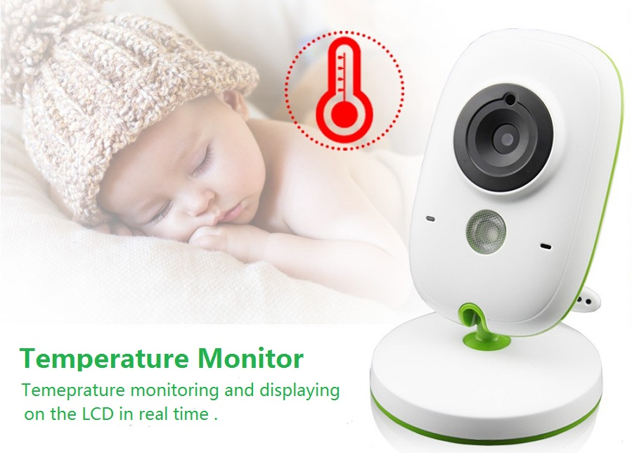 Babykam bebek telsizi baby radio monitor 2.0 inch LCD IR Night Vision Temperature Monitor Lullabies 2 way talk VOX bebek telsiz