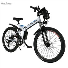 ANCHEER New Mountain Bike26inch 36V Foldable Electric Power Mountain Bicycle with Lithium-Ion Battery ebike USB Charging Hot(China)