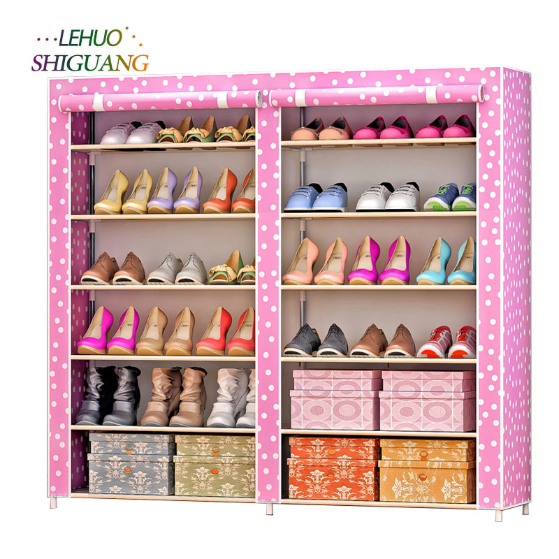 Non-woven fabrics large shoe rack organizer removable shoe storage for home furniture shoe cabinet<br>
